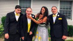 Comparte la foto de sus 3 hermanos autistas y dice sobre ellos: 'Eso es lo que son'