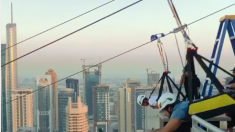 El príncipe heredero de Dubái comparte impresionantes imágenes de sí mismo en la tirolesa