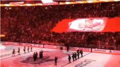 Emocionante escena en un partido de hockey en Toronto horas después del atropello masivo