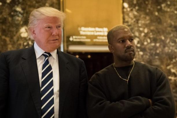 El presidente electo Donald Trump y Kanye West en la ciudad de Nueva York el 13 de diciembre de 2016. (Drew Angerer / Getty Images)