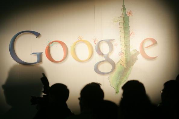 El logotipo de Google se muestra en una conferencia de prensa en Taipei, Taiwán, el 5 de mayo de 2008. (Maurice Tsai/Bloomberg  a través de Getty Images)