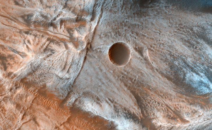 Una vista de la superficie de Marte entregada por la NASA el 7 de marzo de 2017. ATENCIÓN DE REUTERS - ESTA IMAGEN FUE PROPORCIONADA POR UN TERCERO