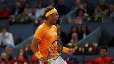 Nadal bate récord de McEnroe y avanza a cuartos final Madrid, Del Potro eliminado