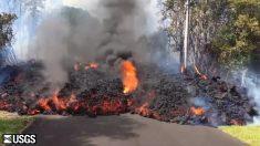 Lava invade residencias cercanas al volcán Kilauea, Hawaii
