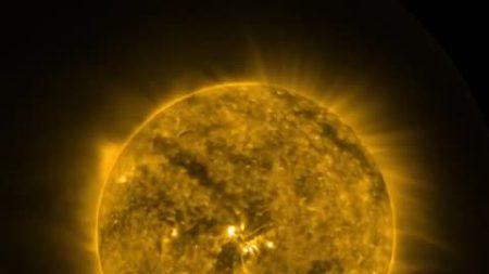 Satélite GOES captura una rotación completa del Sol