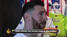 """Messi lo dice: """"Sería terrible ver a Neymar en el Real Madrid"""""""