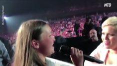 Pink detiene un concierto para que cante una niña de 12 años con una voz increíble