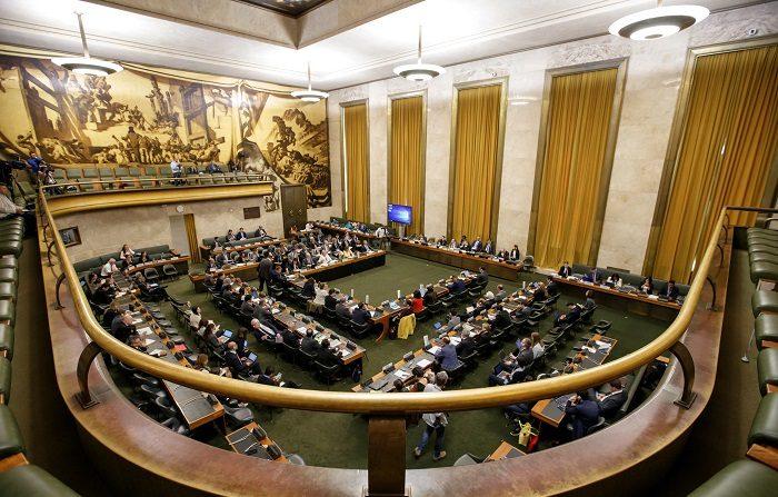Vista general de la Conferencia para el Desarme en Siria, en la sede europea de Naciones Unidas, en Ginebra, Suiza. EFE/ Salvatore Di Nolfi