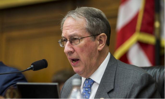 Presidente del Comité Judicial de la Cámara de Representantes Bob Goodlatte en Washington, DC, el 13 de diciembre de 2017. (Zach Gibson/Getty Images)