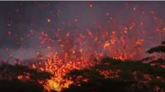 Nueva fisura del volcán Kilauea de Hawái ruge con violenta explosión de lava líquida