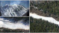 La fuerza de los explosivos desencadena una avalancha controlada en Canadá