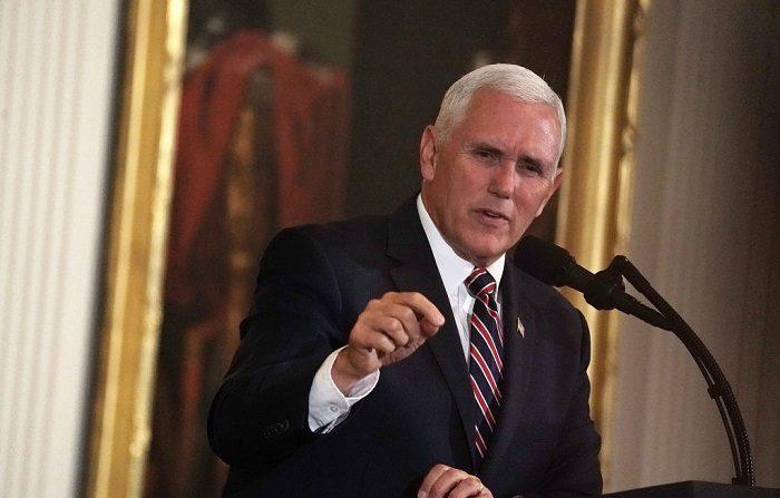 El vicepresidente de los EE.UU. Mike Pence, ratifico hoy que Estados Unidos seguirá imponiendo sanciones a las autoridades venezolanas a pesar de la liberación del preso Joshua Holt. (Photo by Alex Wong/Getty Images)