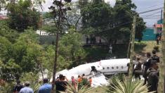 Jet privado con pasajeros de Texas se accidenta en la capital de Honduras