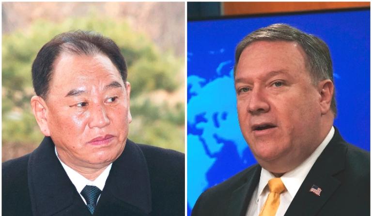 El general Kim Yong Chol, y secretario de Estado, Mike Pompeo (Alex Wong y Korea Pool/Getty Images)