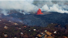 Dron ayuda a escapar a residente rodeado por la lava del volcán Kilauea