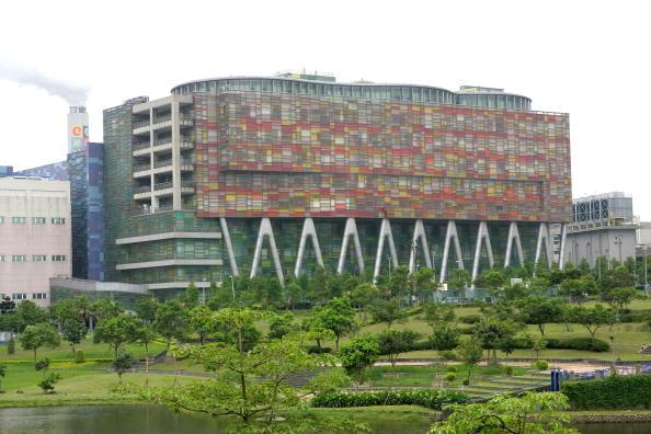 La sede central de Inotera Memories se encuentra en Taoyuan City, Taiwán, el 24 de junio de 2009. La empresa estadounidense Micron, el mayor fabricante de chips del mundo, adquirió Inotera en 2016. (Maurice Tsai/Bloomberg via Getty Images)