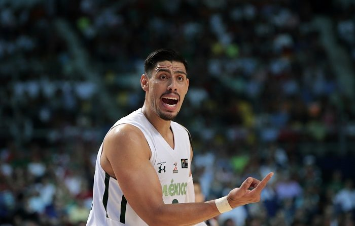 78-70. México vence a Estados Unidos en el debut del español Iván Deniz. Gustavo Ayón, jugador de la selección de baloncesto de México. EFE/Archivo