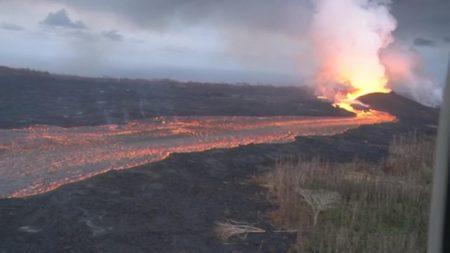 Así se ve el impactante río de lava del volcán Kilauea luego de 45 días de actividad
