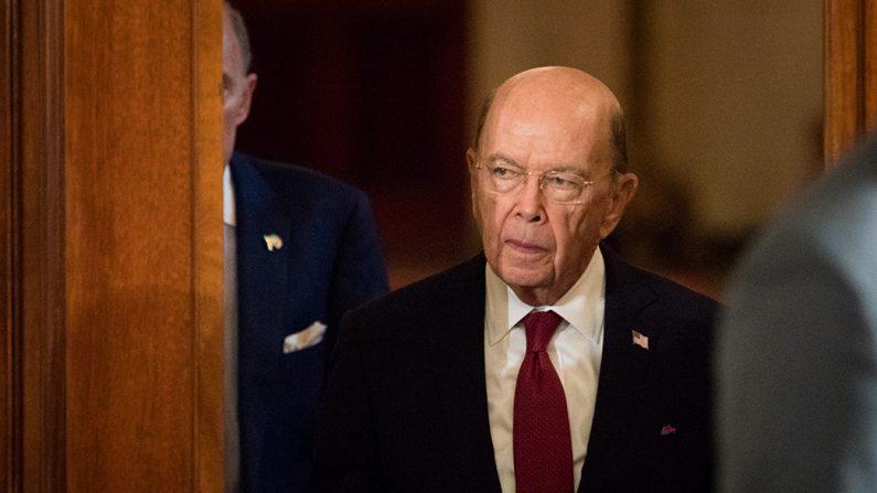 El secretario de Comercio Wilbur Ross, 3 de abril de 2018, en la Casa Blanca. (Samira Bouaou/La Gran Época)