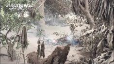 Aldeas en torno al volcán de Fuego, en riesgo de quedar sepultadas como otra Pompeya