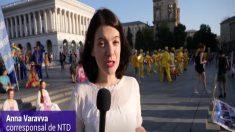 Practicantes de disciplina espiritual china celebran festividades en Ucrania