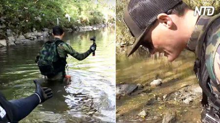 Caminan 3 kilómetros río abajo, los cazadores de tesoros encuentran un MacBook. Mira su condición