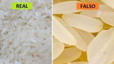 Estos alimentos chinos falsos podrían matarte, ojalá este arroz plástico no esté en tu supermercado