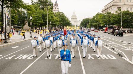 Solemne desfile de Falun Dafa en Washington entrega un mensaje de esperanza
