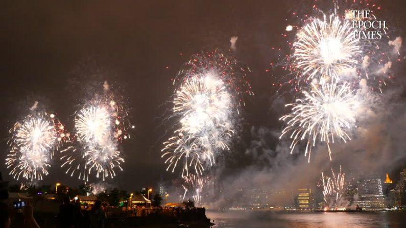 Fuegos Artificiales del 4 de julio en Nueva York. (La Gran Época)