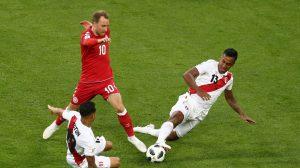 Dinamarca vence por 1-0 a Perú en el Mundial de Fútbol Rusia 2018