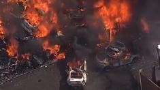 Explota gigantesco incendio de chatarra en Coventry, Reino Unido