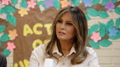 Primera dama visita refugio para niños en la frontera de Texas