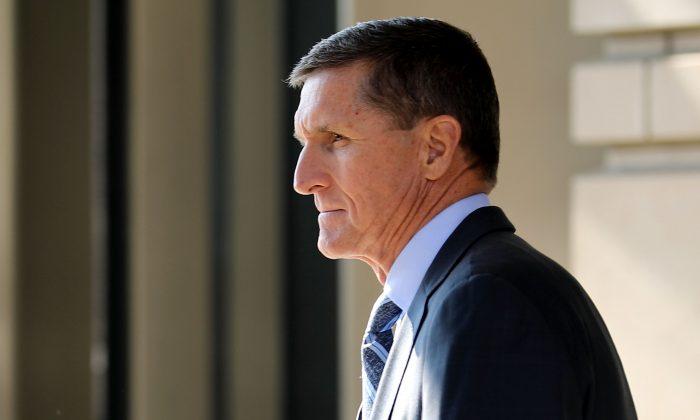 Michael Flynn, exasesor de seguridad nacional del presidente Donald Trump en Washington, D.C., el 1 de diciembre de 2017. (Chip Somodevilla / Getty Images)