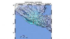 Un sismo de magnitud 5,7 sacude Guatemala sin daños