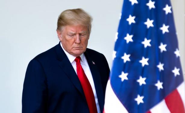 El presidente Donald Trump en el Jardín Rosa de la Casa Blanca el 7 de junio de 2018