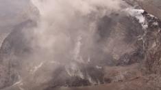 Drones muestran cambios en el cráter Halema'uma'u en la cumbre del volcán Kilauea