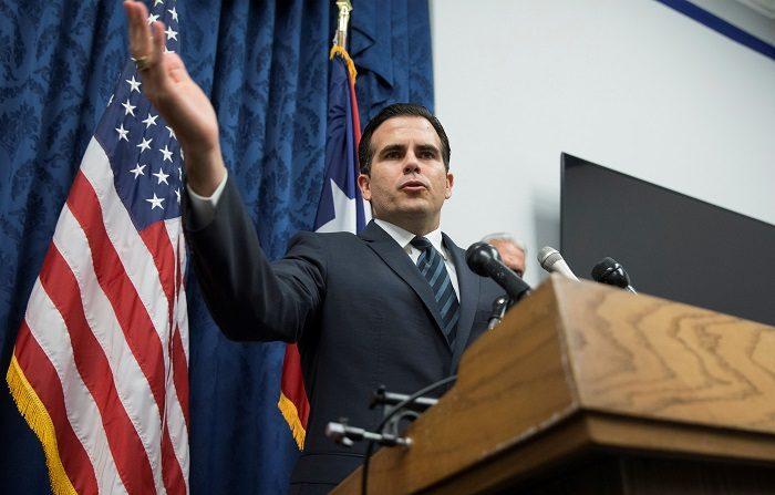 Gobernador avala la llegada a P.Rico de empresa energía solar Sunrun El gobernador de Puerto Rico, Ricardo Rosselló, ofrece una rueda de prensa. EFE/Archivo