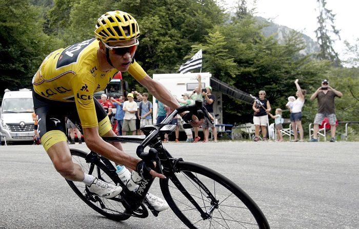 """Chris Froome pide apoyo a los aficionados y que sean """"positivos"""" El ciclista británico Christopher Froome. EFE/Archi"""