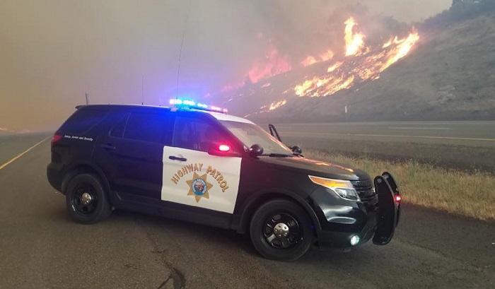 """""""Temperaturas críticas"""" amenazan a California con golpes de calor e incendios, California, USA, 06 July 2018. EFE/CHP-YREKA"""