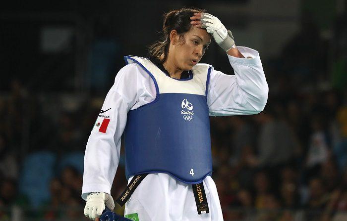La triple medallista olímpica María Espinoza encabeza la selección mexicana que viajó hoy a Washington para buscar ganar algunas medallas a partir de mañana en el Panamericano de taekwondo. EFE/ARCHIVO