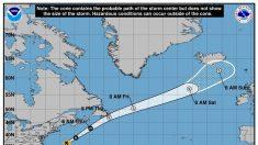 La tormenta tropical Chris se convertirá hoy en un sistema postropical