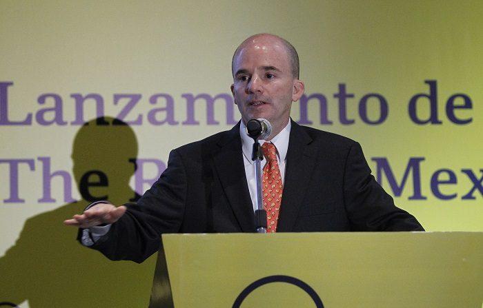 El secretario de Hacienda de México, José Antonio González Anaya, habla durante un evento de la firma de investigación de mercados y consultoría Oxford Business Group hoy, jueves 12 de julio de 2018, en Ciudad de México (México). EFE