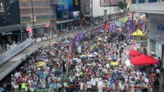 Protestan 50 mil hongkoneses contra el régimen de Beijing en el 21º aniversario de la entrega a China