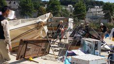 Remolino de polvo siembra el pánico durante festival callejero en Francia