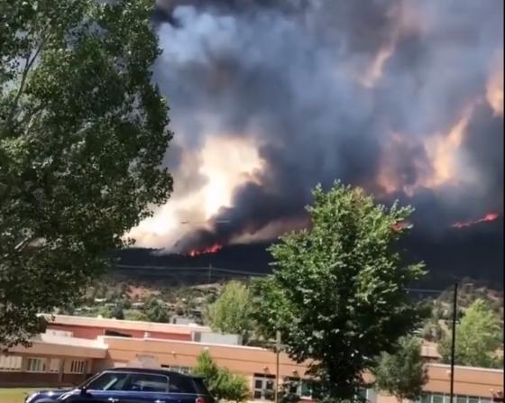 Incendio Lake Christine en las Montañas Basalt ( Vídeo- Storyful)