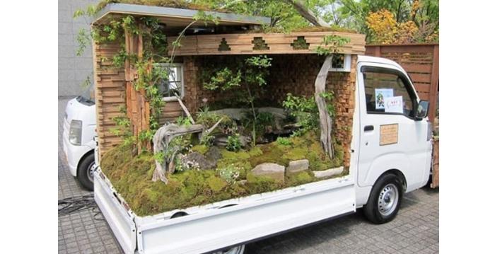 Estos japoneses usan sus camiones como lienzo para la jardinería y los resultados son impresionantes