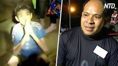 Padre de chico tailandés atrapado esperó y rezó fuera de la cueva hasta que todos fueron rescatados
