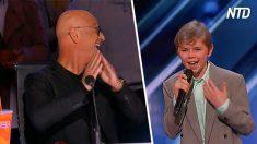 Este niño de 13 años sorprende a los jueces y al público con un número de hip hop sorpresa