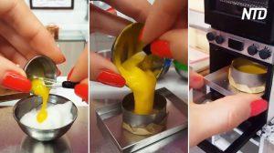 Esta mujer hornea un pastel increíblemente hermoso. Cuando lo comas, ¡no habrá segunda porción!