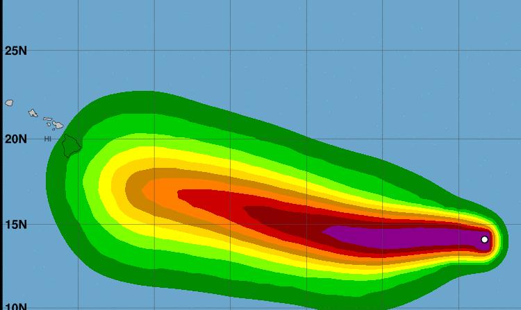 Hracán Héctor llegará a Hawçai el 9 de agosto ( NOAA)